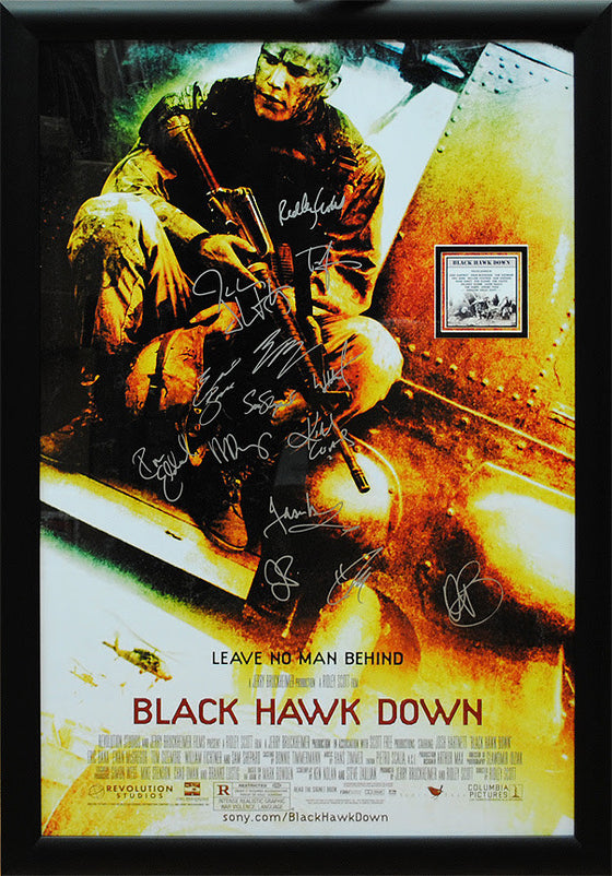 """Blackhawk Down"" Signed Movie Poster"