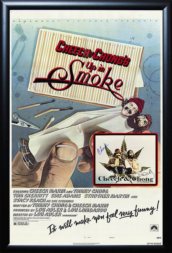 """Cheech and Chong : Up in Smoke""  Photo/Poster Combo"