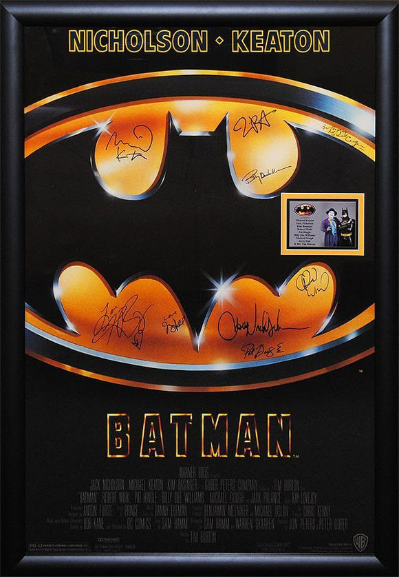 """Batman"" Signed Movie Poster"