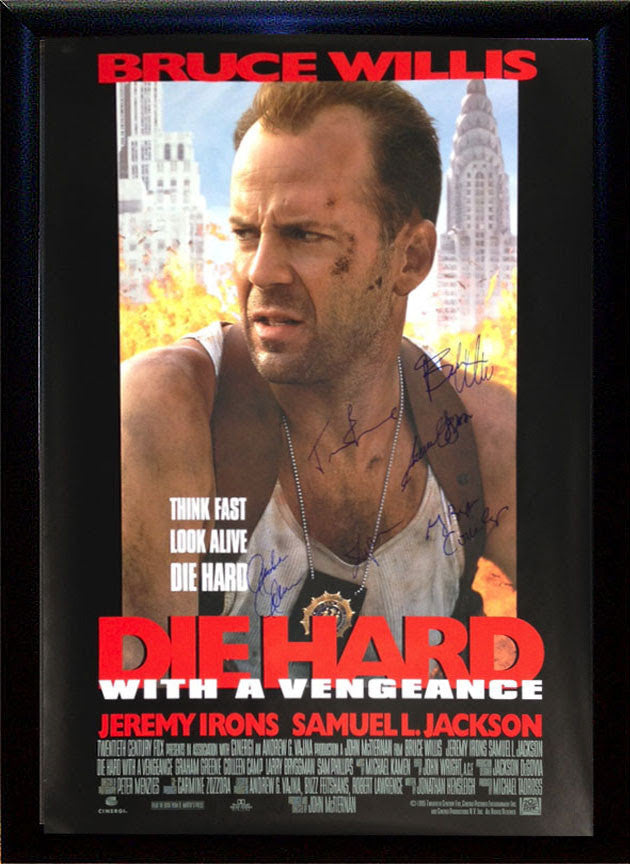 """Die Hard 3-With a Vengeance"" Signed Movie Poster"