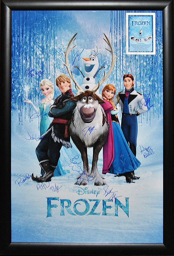 """Disney's Frozen"" Signed Movie Poster"