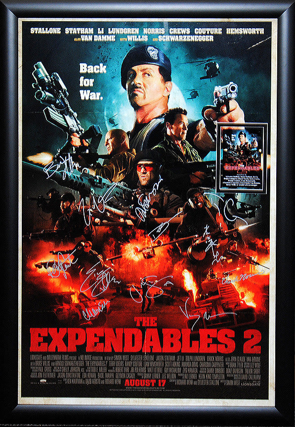 """Expendables 2"" Signed Movie Poster"
