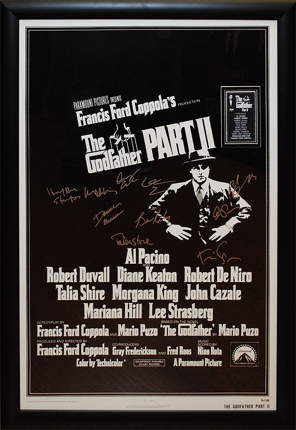 """Godfather II"" Signed Movie Poster"