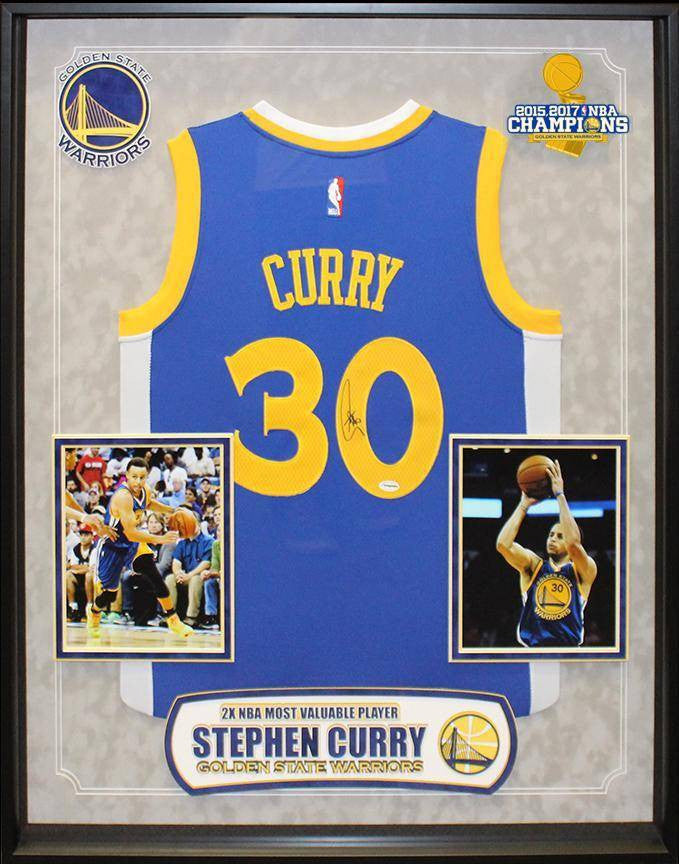"""Golden State Warriors"" 2017 NBA Champ Steph Curry signed Jersey!"