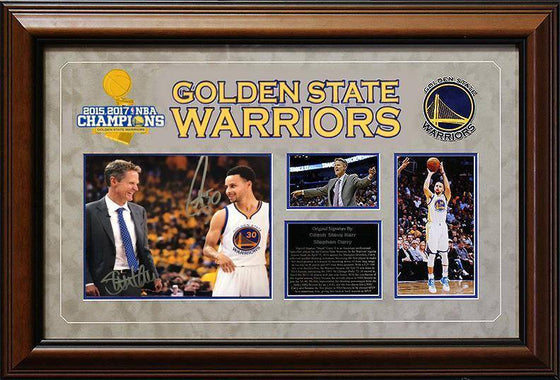 "'Warriors"" Stephen Curry / Steve Kerr 8x10"