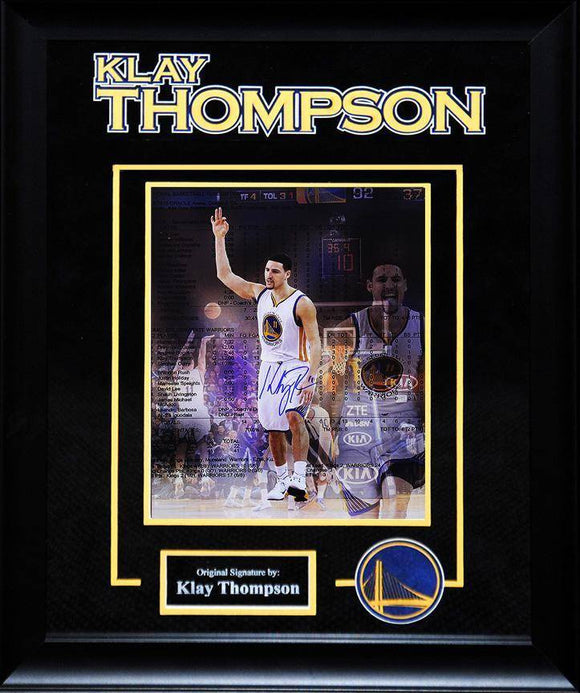 """Golden State Warriors""  Klay Thompson s igned 16x20 Photo"