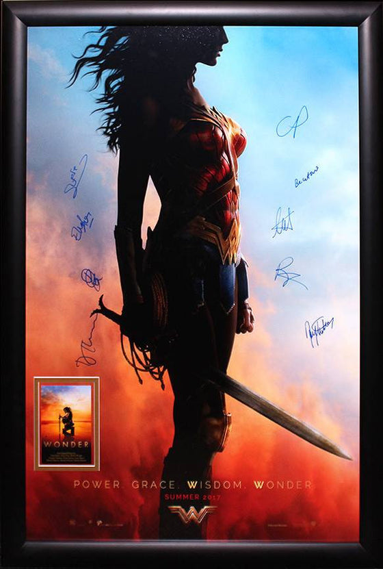 """Wonder Woman"" (2017) Cast signed poster"