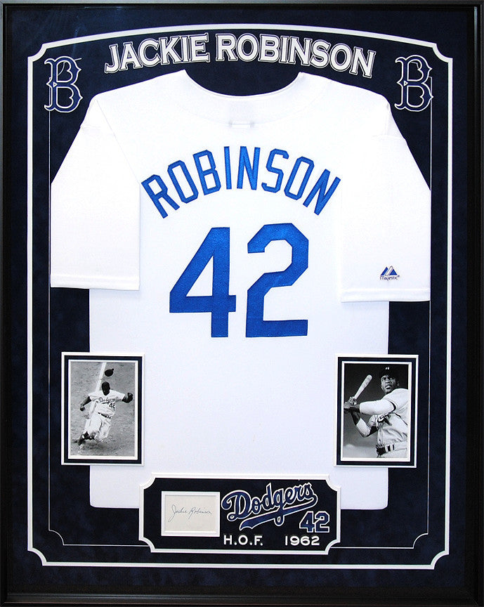 Los Angeles Dodgers - Jackie Robinson jersey with original signature