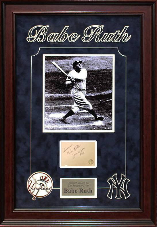 New York Yankees – Babe Ruth original signature