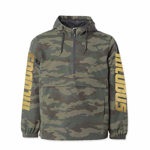 LOGO-SLEEVES CAMO WINDBREAKER