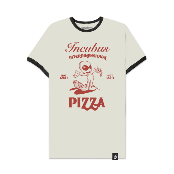 Interdimensional Pizza Ivory Ringer Tee