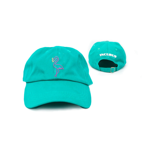 SMOKING FLAMINGO TEAL DAD HAT