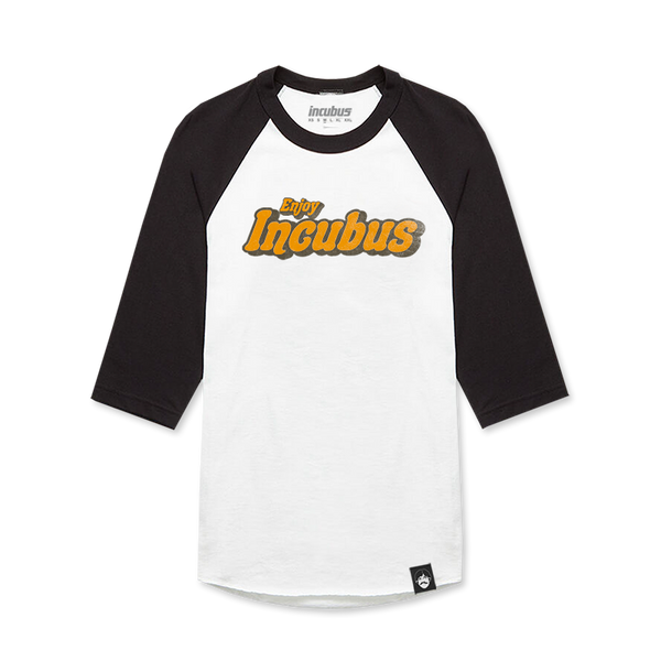 Retro Logo White & Black Raglan