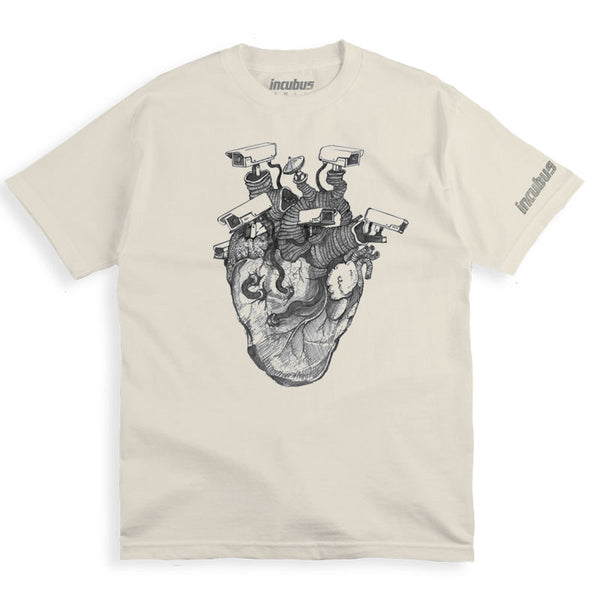 HEART SURVEILLANCE WHITE T-SHIRT
