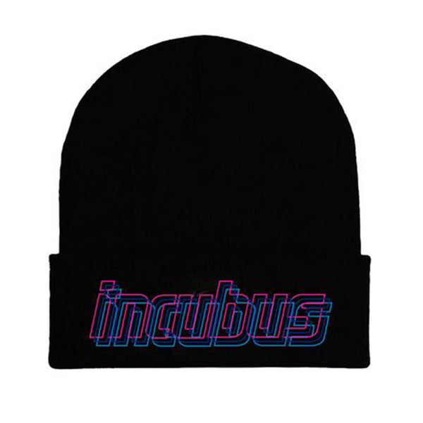 3D COLOR LOGO BLACK BEANIE