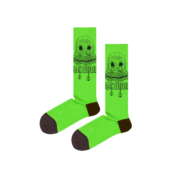 BLOB MONSTER GREEN SOCKS