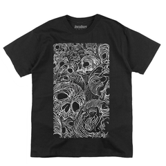 STACKED SKULL BLACK TEE