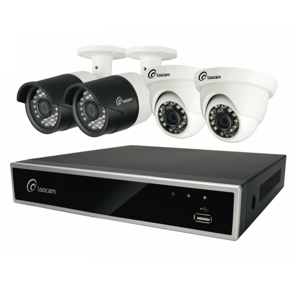 1080p HD 4-Channel Security Camera System