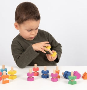 Rainbow Wooden Nuts and Bolts 14pc Set
