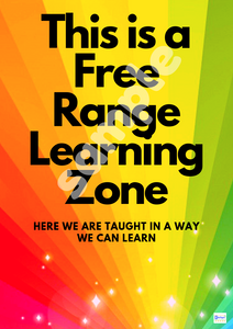 Free Range Learning Zone Poster PRINTED COPY