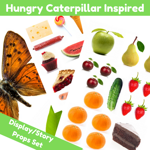 Hungry Caterpillar Inspired Photo Display or Props Set PRINTED COPY