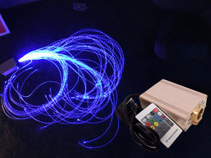 Colour Changing Fibre Optic Kit - Light Source & 100 1.5m Tails