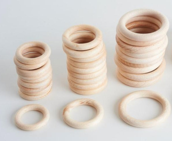 Smooth Beechwood Ring 48, 56mm, 70mm and 100mm, - Treasure Basket Single