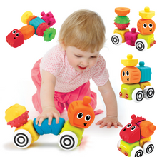 Load image into Gallery viewer, Infantino Sensory Plug and Roll Multi Blocks Set