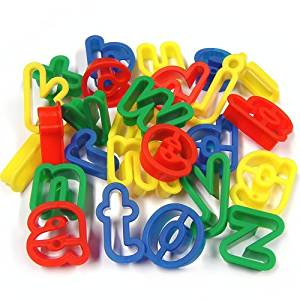 Lower Case Alphabet Dough Cutters pk26