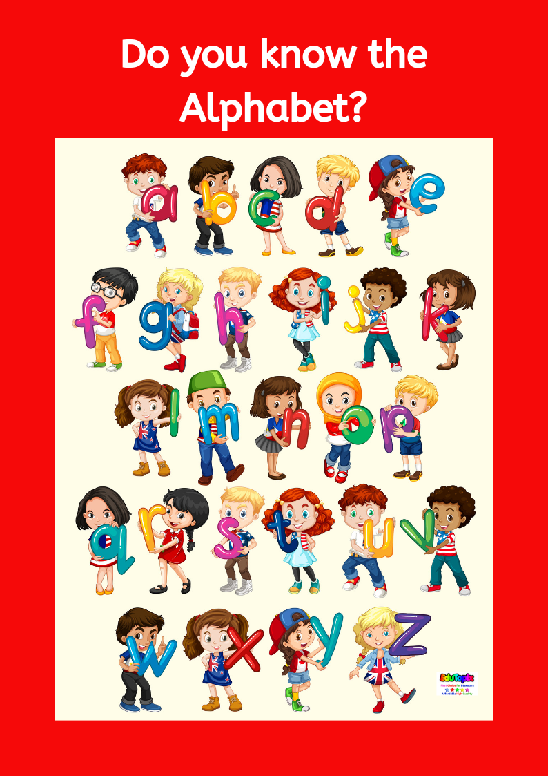 Alphabet Kids Poster - PRINTED COPY
