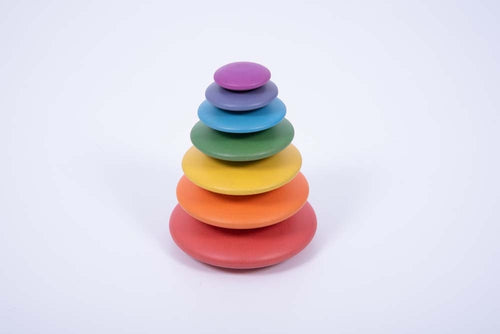 Rainbow Wooden Buttons
