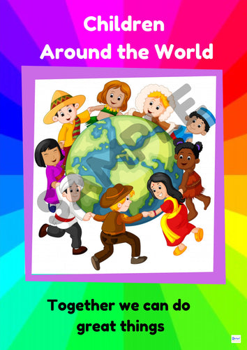 Children Around the World Poster PRINTED COPY