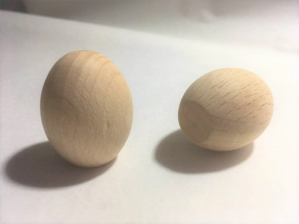 Smooth Wooden Egg Shape 33mm