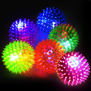 Spiky Flashing Ball 7.5cm (video)