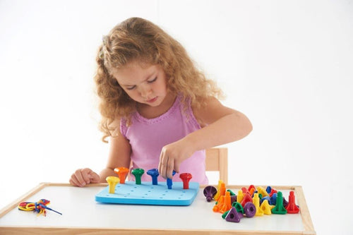 Giant Peg Board with Stackable Pegs