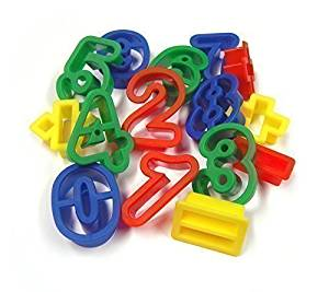 Number & Symbol Dough Cutters pk15