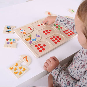 Number and Picture Matching Puzzle