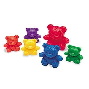 The Original Three Bear Family® Basic Six Colour Rainbow Counter pk24