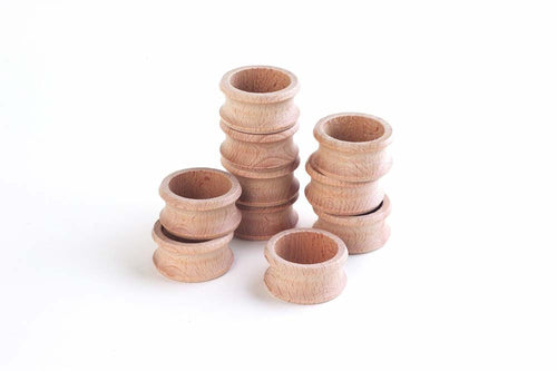 Smooth Wooden Napkin Ring 47mm - Treasure Basket Single