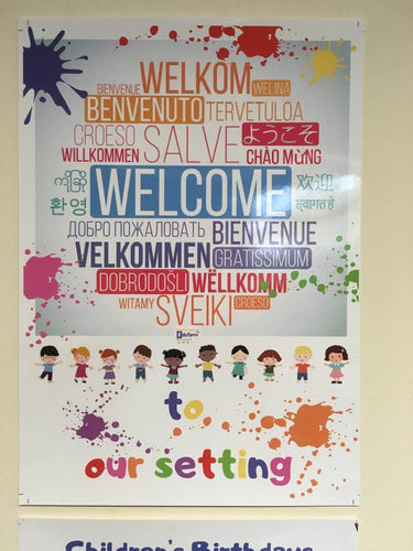 Multi Language Welcome Poster PRINTED COPY