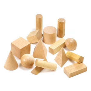 Wooden Geometric Solids pk15