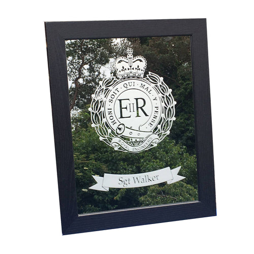 Armed Forces Crest Etched Mirror Gift