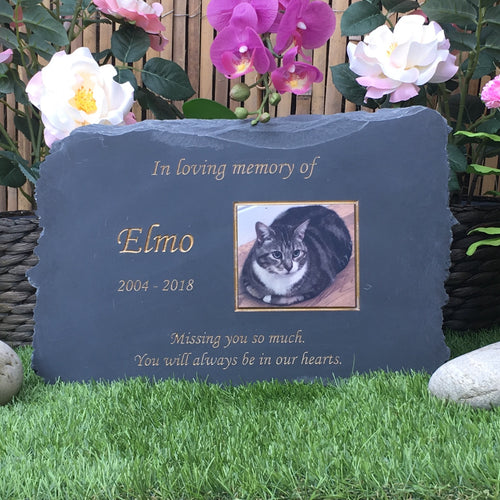 Natural Slate Photo Pet Memorial Range