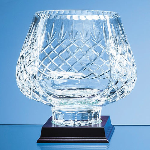 Personalised 21cm Lead Crystal Panelled Tulip Bowl
