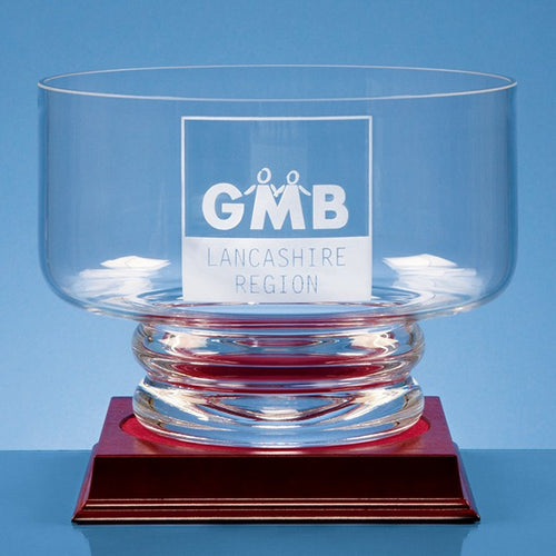 Personalised 20cm Handmade Footed Presentation Bowl