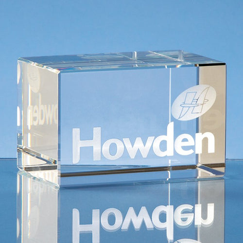 Personalised 8cm Optical Crystal Rectangle