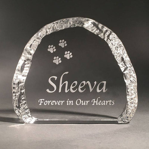 12cm Crystal Pet Memorial Cloud 1