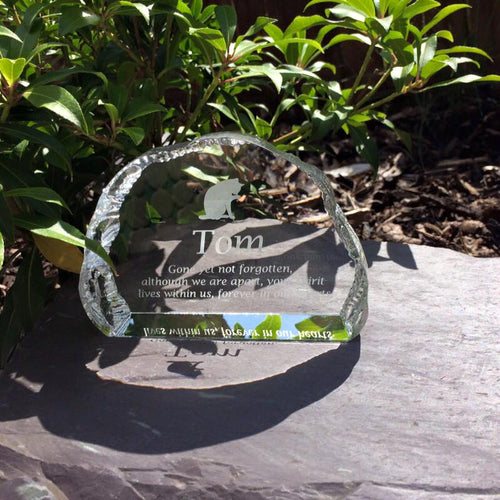 12cm Crystal Pet Memorial Cloud 2