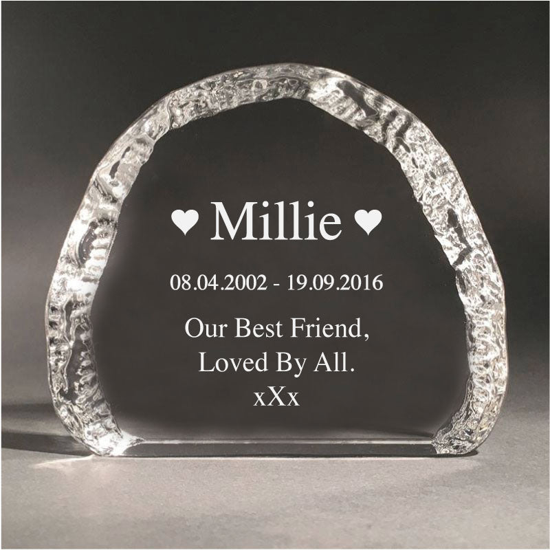 12cm Crystal Pet Memorial Cloud 3