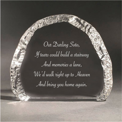 12cm Crystal Pet Memorial Cloud 4